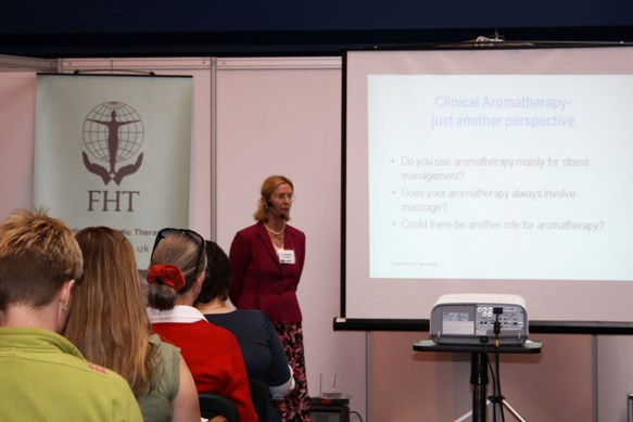Jane Buckle presenting at a conference in London